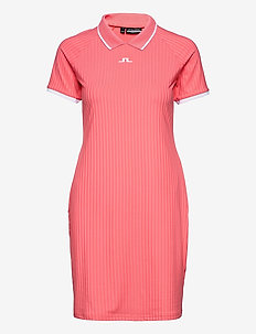 April Golf Dress - t-shirt dresses - tropical coral