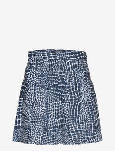 Adina Printed Golf Skirt - sportiska stila svārki - jl navy croco