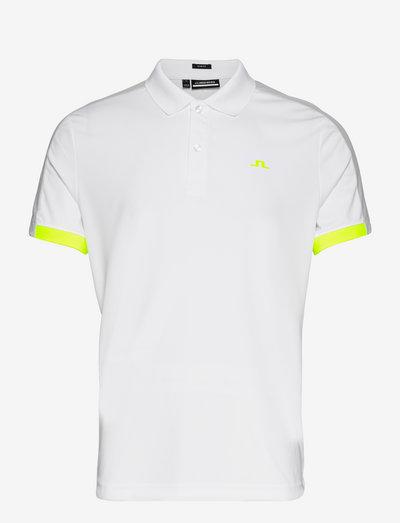 Rowland Slim Fit Golf Polo - pik - white
