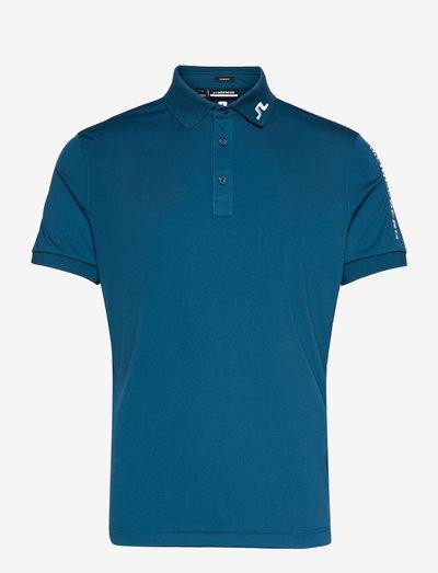 Tour Tech Slim Fit Golf Polo - pik - majolica blue