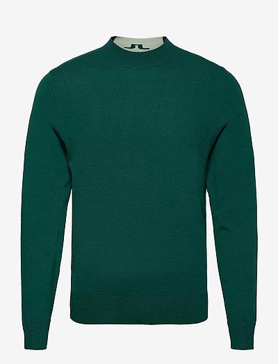 Lawrence Golf Sweater - rund hals - treeline green