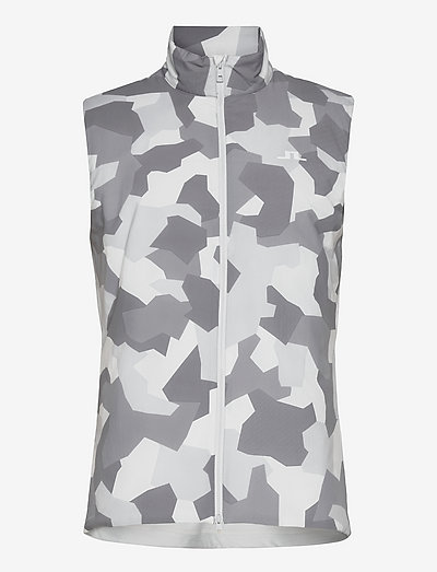 Packlight Print Golf Vest - golfjakker - grey camo