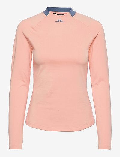Eleonore Long Sleeve Golf Top - topjes met lange mouwen - pale pink