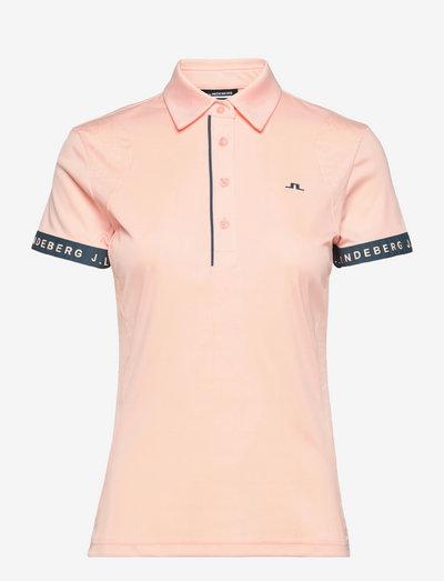 Novia Golf Polo - polo's - pale pink