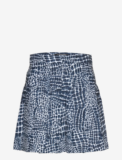 Adina Printed Golf Skirt - rokjes - jl navy croco