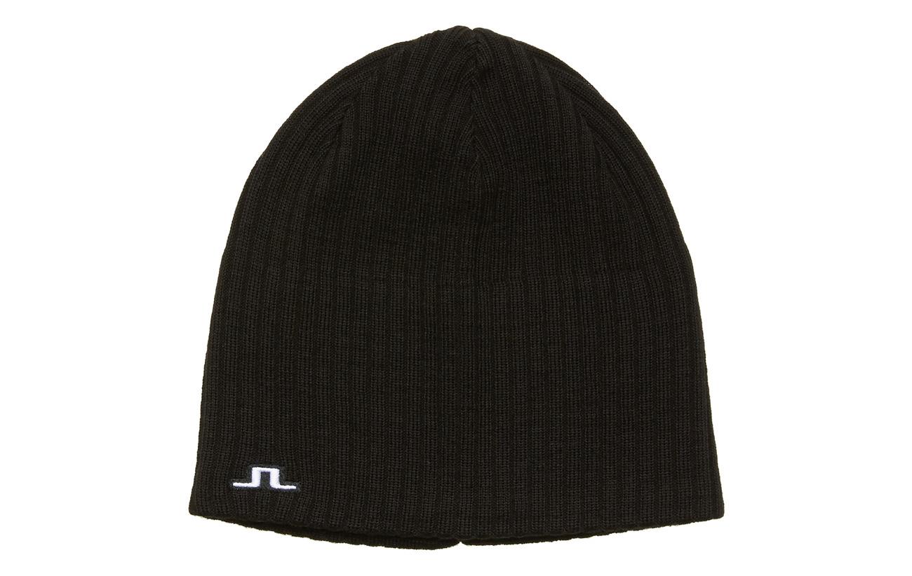 J. Lindeberg Ski Achieve Hat-Wool Blend - BLACK