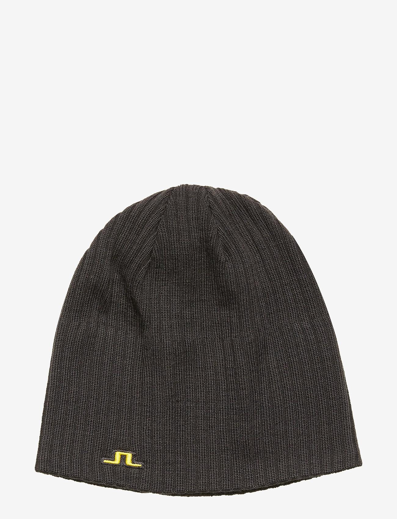 J. Lindeberg Ski - Achieve Hat-Wool Blend - pipot - asphalt black