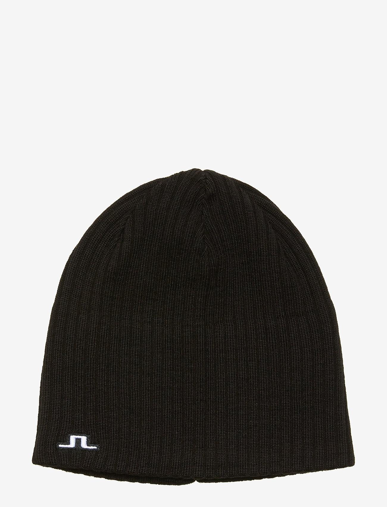 J. Lindeberg Ski - Achieve Hat-Wool Blend - beanies - black - 0