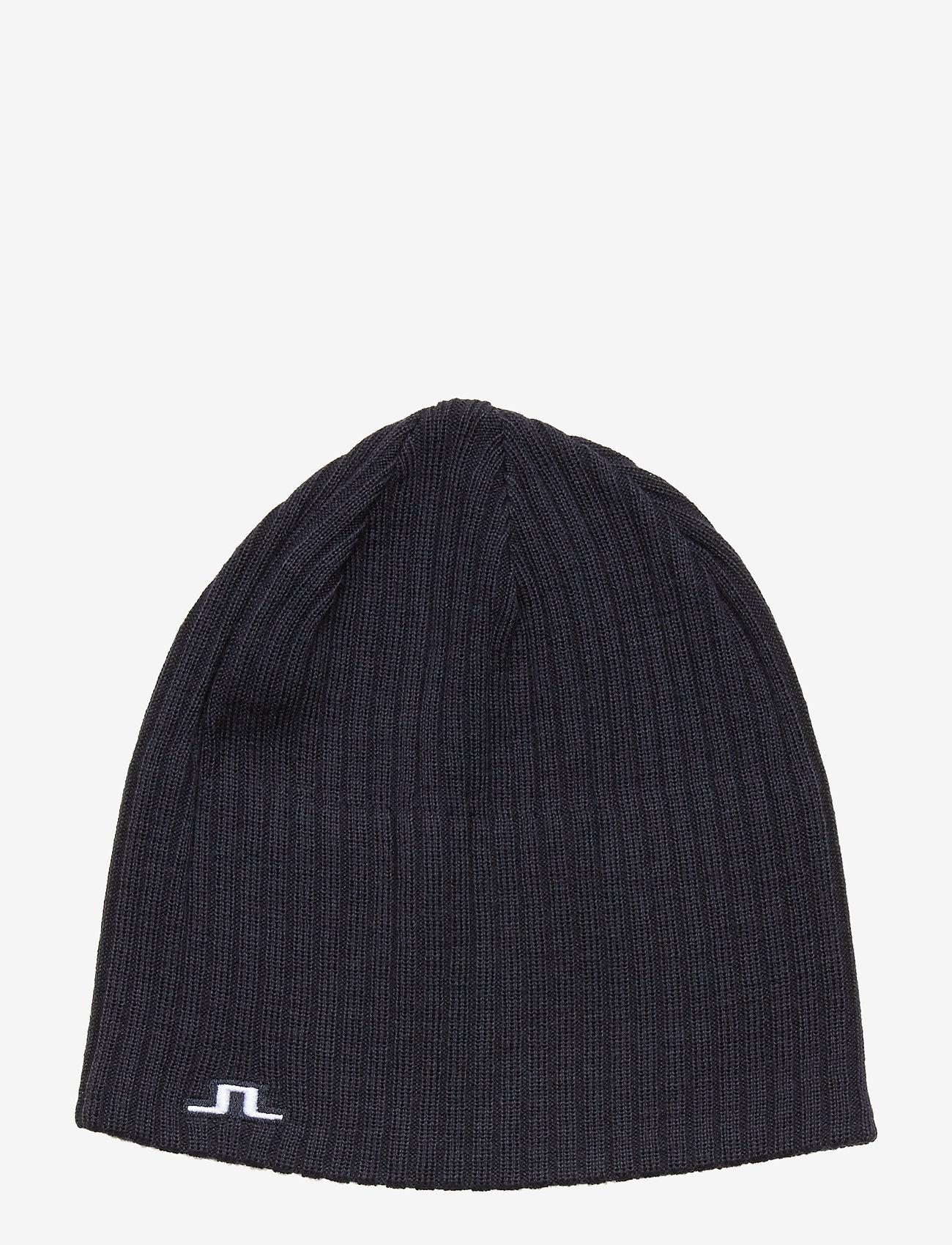 J. Lindeberg Ski - Achieve Hat-Wool Blend - beanies - jl navy - 0