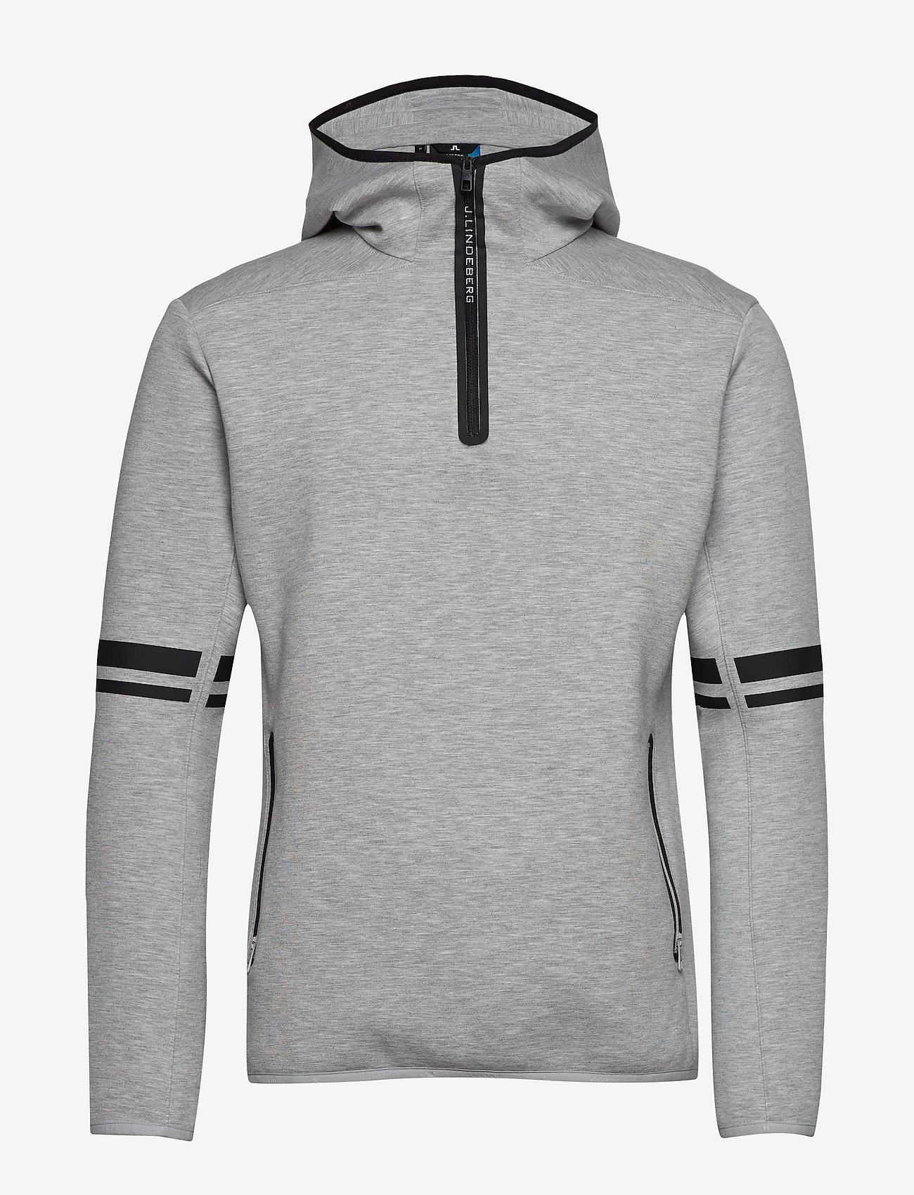 J. Lindeberg Ski - Logo Hood-Tech Sweat - hupparit - stone grey melange