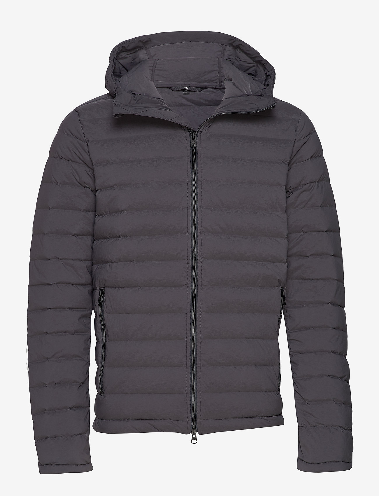 J. Lindeberg Ski - M Ease Hooded Liner-JL Down - down jackets - asphalt black - 0