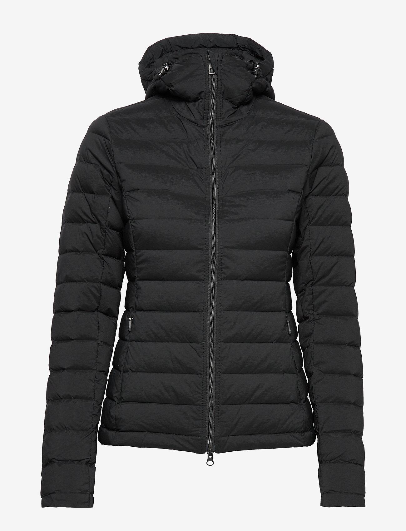 J. Lindeberg Ski - W Ease Hooded Liner-JL Down - untuvatakit - black