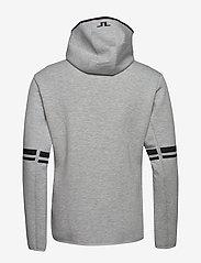 J. Lindeberg Ski - Logo Hood-Tech Sweat - hupparit - stone grey melange - 1