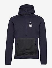 J. Lindeberg Ski - Bute Hood-Tech Sweat - perus-college-paitoja - jl navy - 0