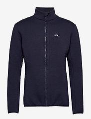 J. Lindeberg Ski - Nigel Mid Jkt Logo Capsule-Tec - sweatshirts - jl navy - 0