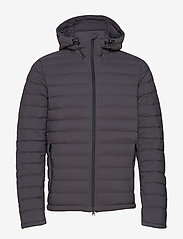 J. Lindeberg Ski - M Ease Hooded Liner-JL Down - down jackets - asphalt black - 1
