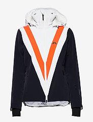J. Lindeberg Ski - W Wrangell Jkt-Dermizax EV 2L - insulated jackets - juicy orange - 1