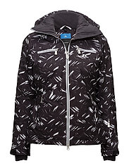 W Truuli Jacket JL 2L Print - BLACK FEATHER