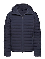 M Ease Hooded Liner JL Down - JL NAVY