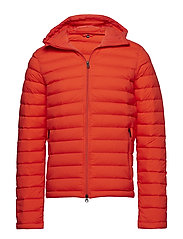 M Ease Hooded Liner JL Down - RACING RED
