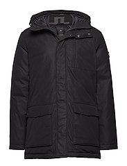 M Radiator Parka Dress Poly - BLACK