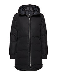 W Radiator Parka Dress Poly - BLACK