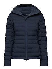 W Ease Hooded Liner JL Down - JL NAVY