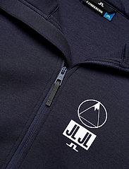J. Lindeberg Ski - Bute Hood-Tech Sweat - perus-college-paitoja - jl navy - 2