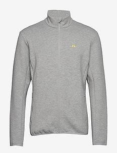 Nigel Mid Jkt Logo Capsule-Tec - sweats - stone grey melange