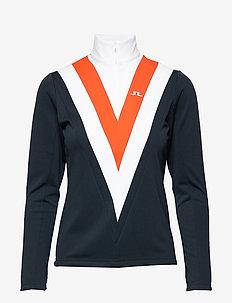 Wrangler Quarter Mid-Brushed F - sweatshirts - juicy orange