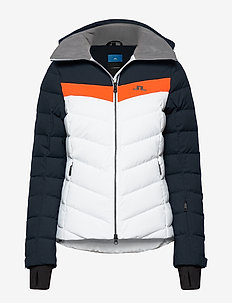 W Russel Down Jkt-JL 2L - down jackets - juicy orange