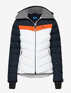 W Russel Down Jkt-JL 2L - down jackets - juicy orange