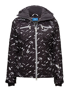 W Truuli Jacket JL 2L Print - BLACK FEATHER