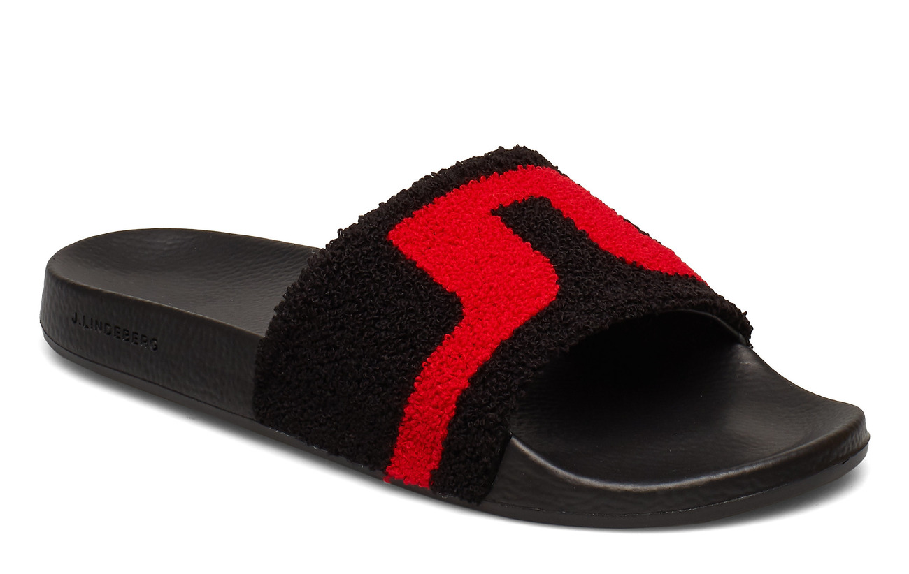J. Lindeberg Enrico Slipper Sport Terry - BLACK