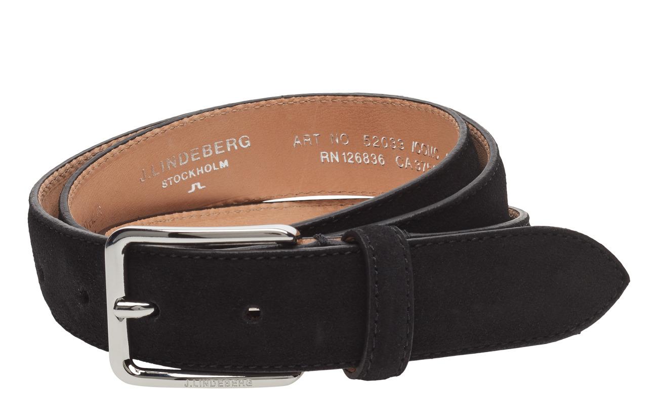 J. Lindeberg S-BELT 52033 Cow Suede - BLACK