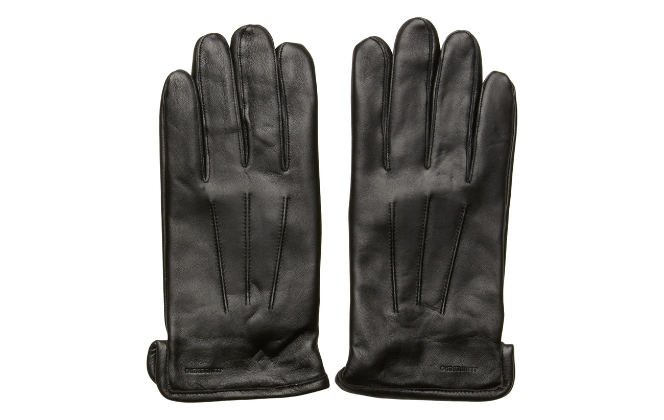 J. Lindeberg Bono-Leather Glove - BLACK