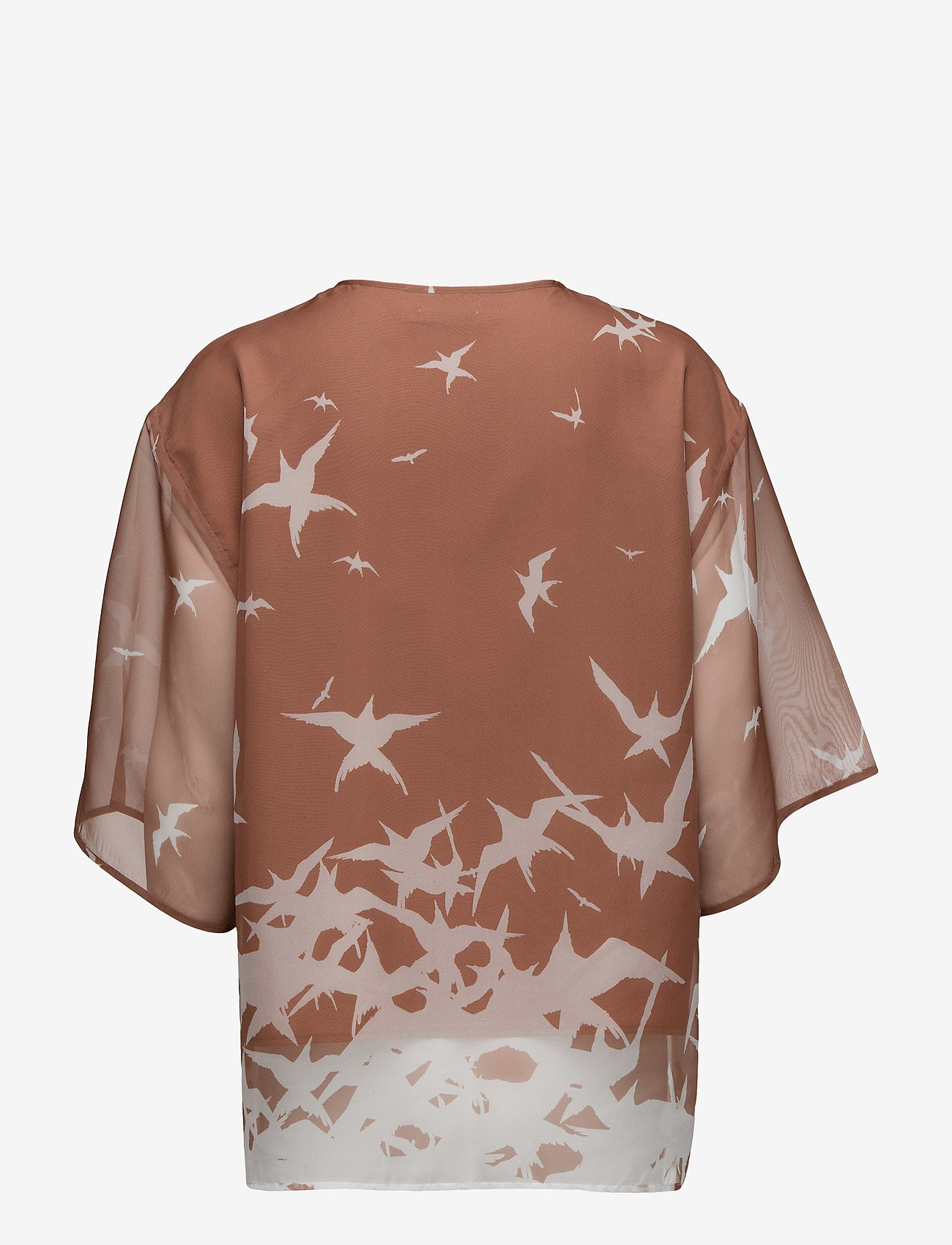 J. Lindeberg - Ilina Placement Print - short-sleeved blouses - nude - 1