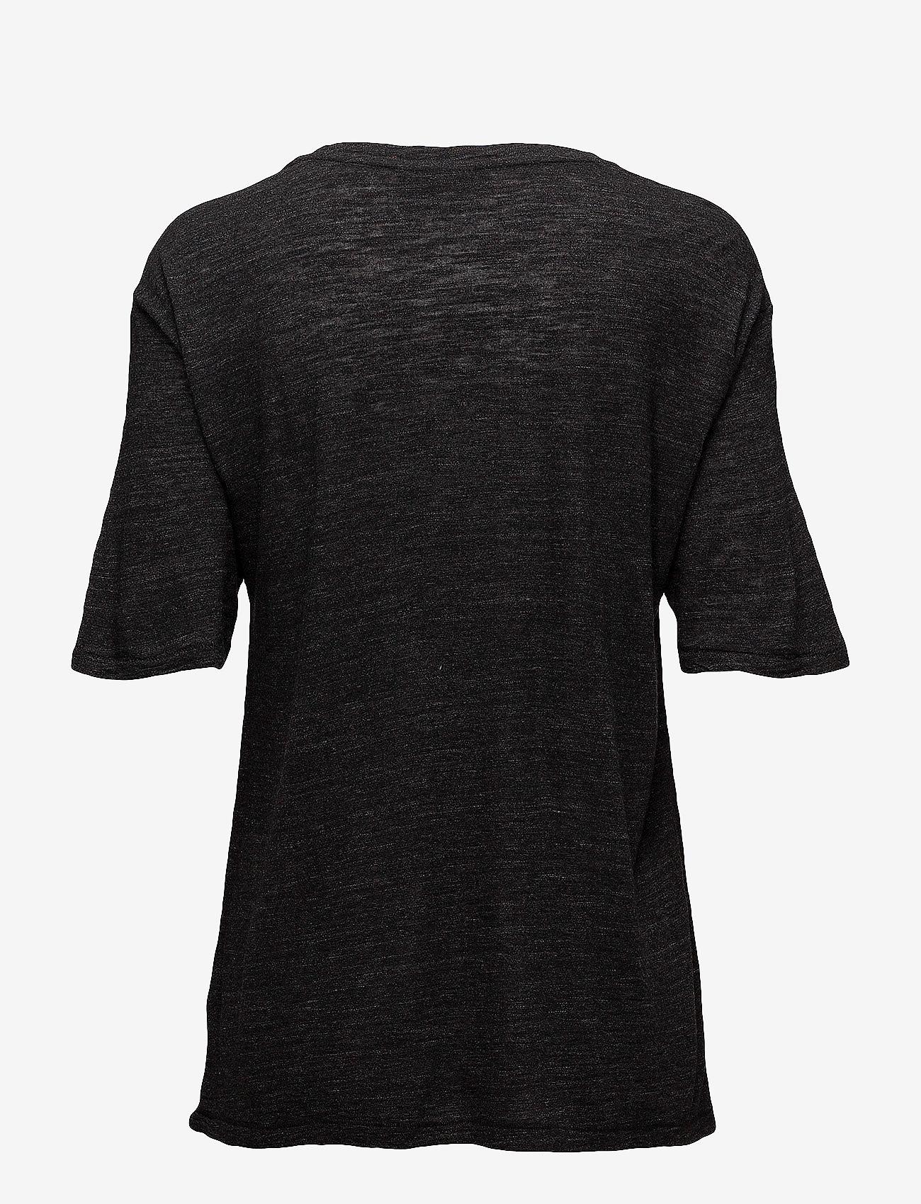 J. Lindeberg - Rhonda Wool Jersey - t-shirts - black mel - 1