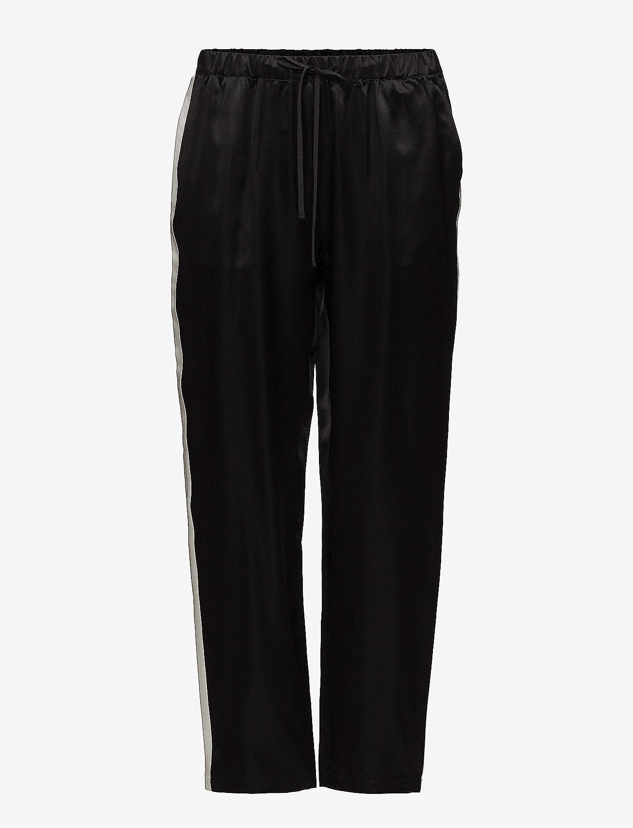 J. Lindeberg - Spring Viscose Silk - straight leg trousers - black - 0