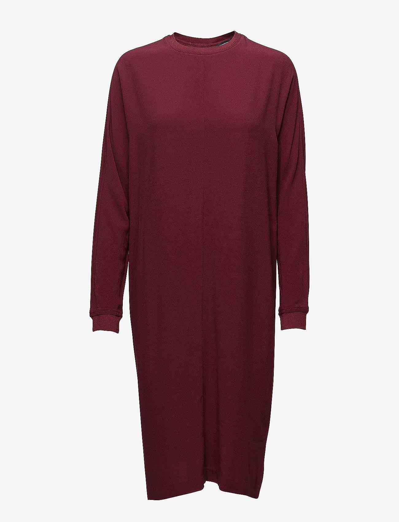 J. Lindeberg - Noelle Drapy Crepe - short dresses - burgundy - 0