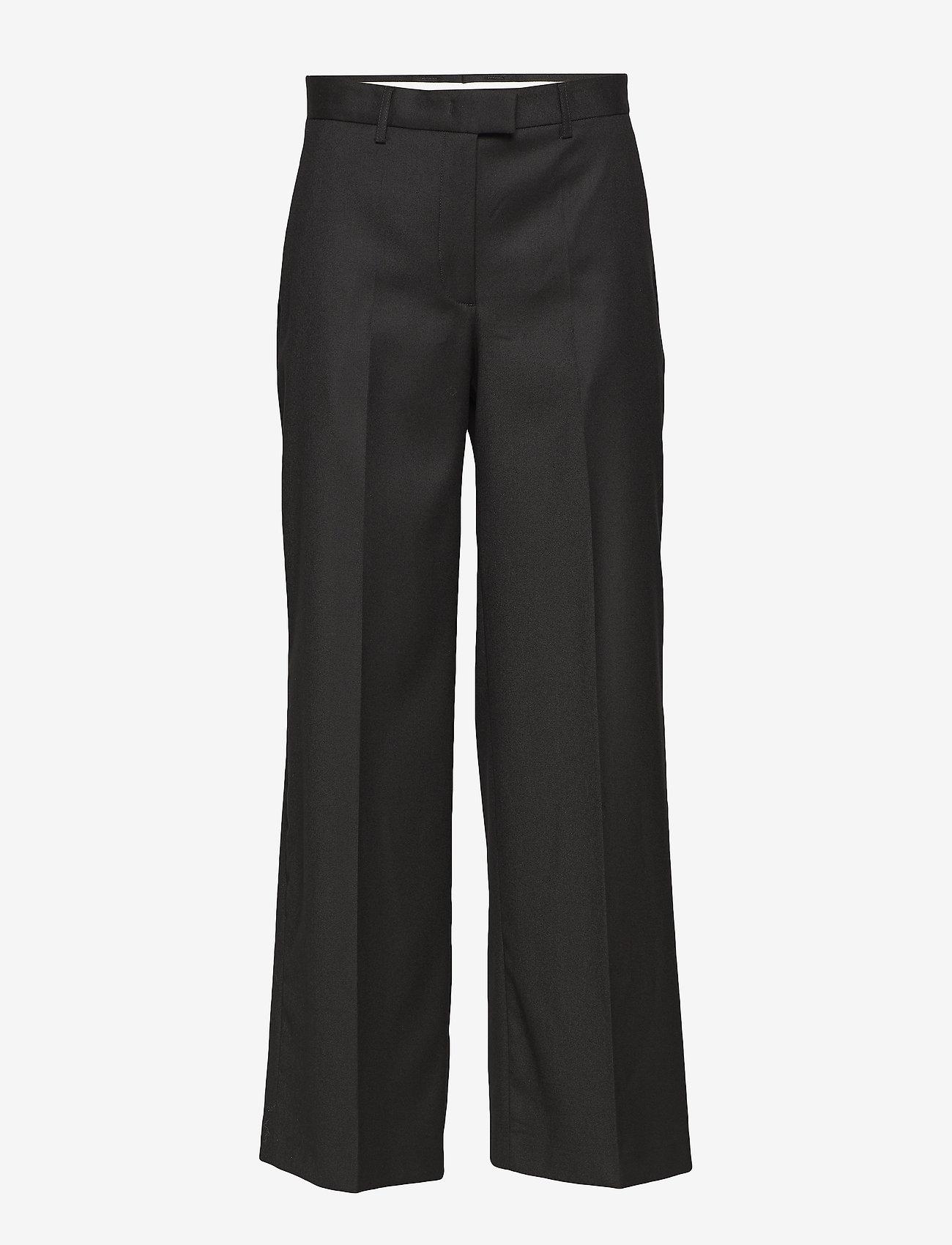 J. Lindeberg - Kori Wool Pin - wide leg trousers - black