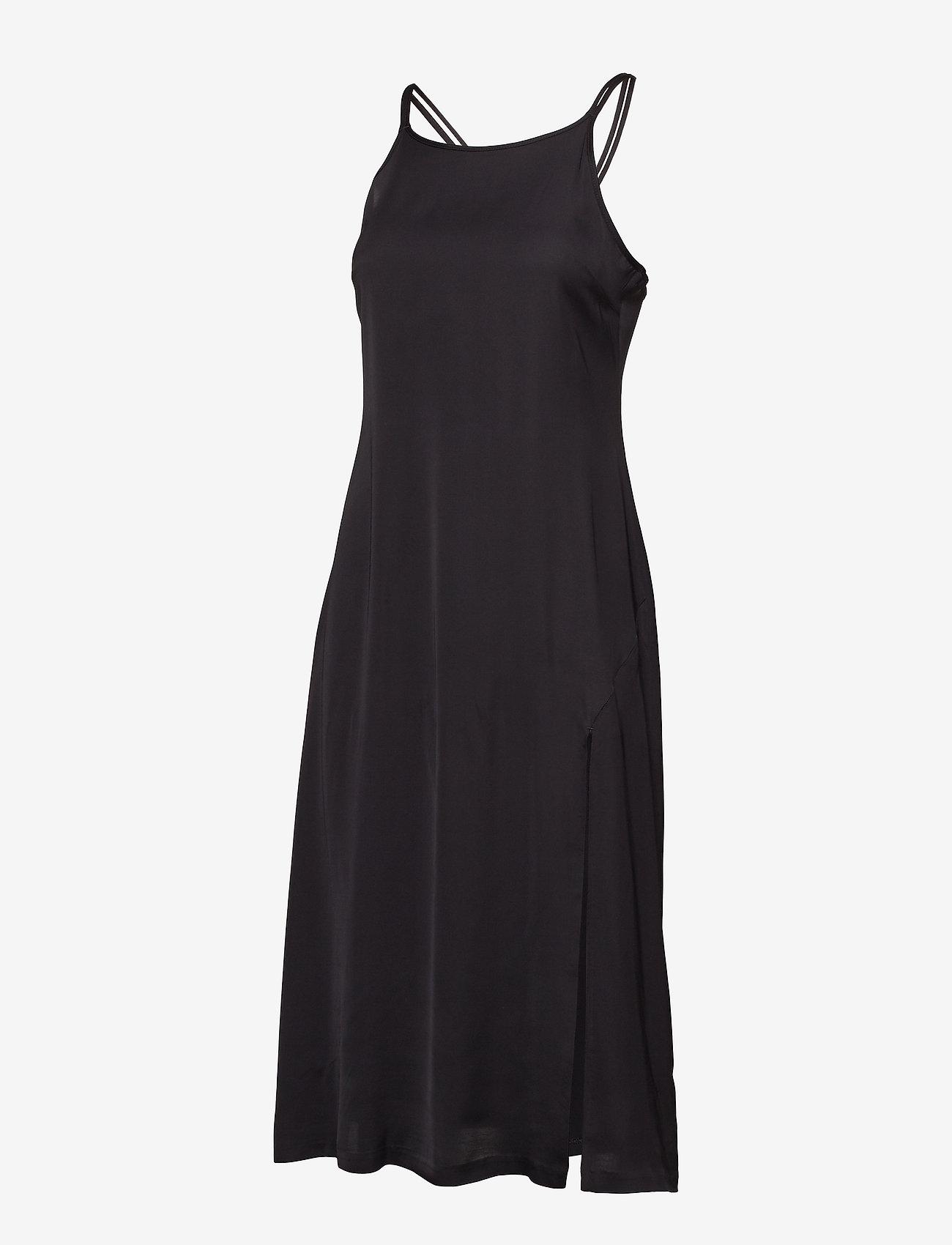 J. Lindeberg - Joni Liquid Satin - midi dresses - black - 1