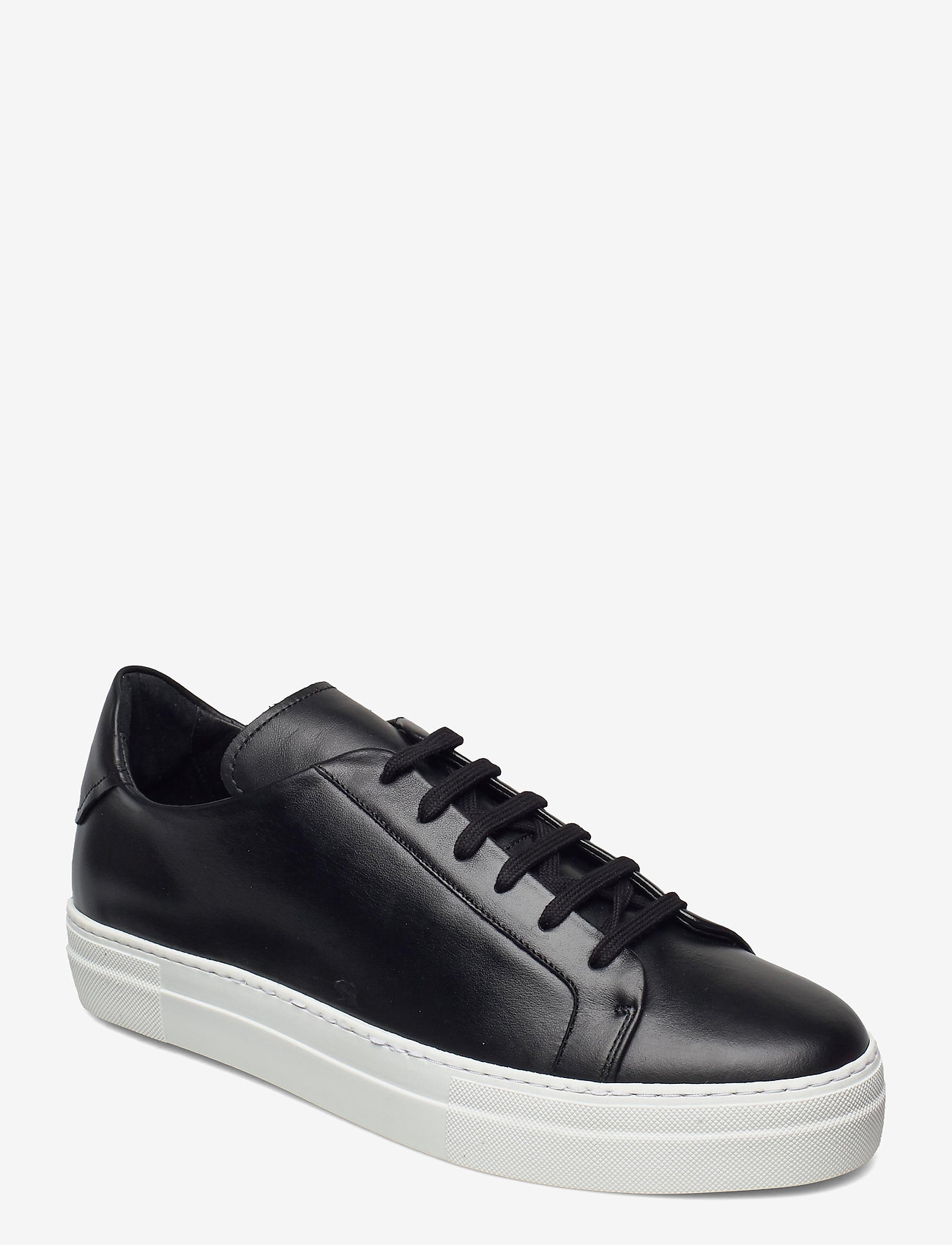 J. Lindeberg - Signature Leather Sneaker - niedriger schnitt - black - 0