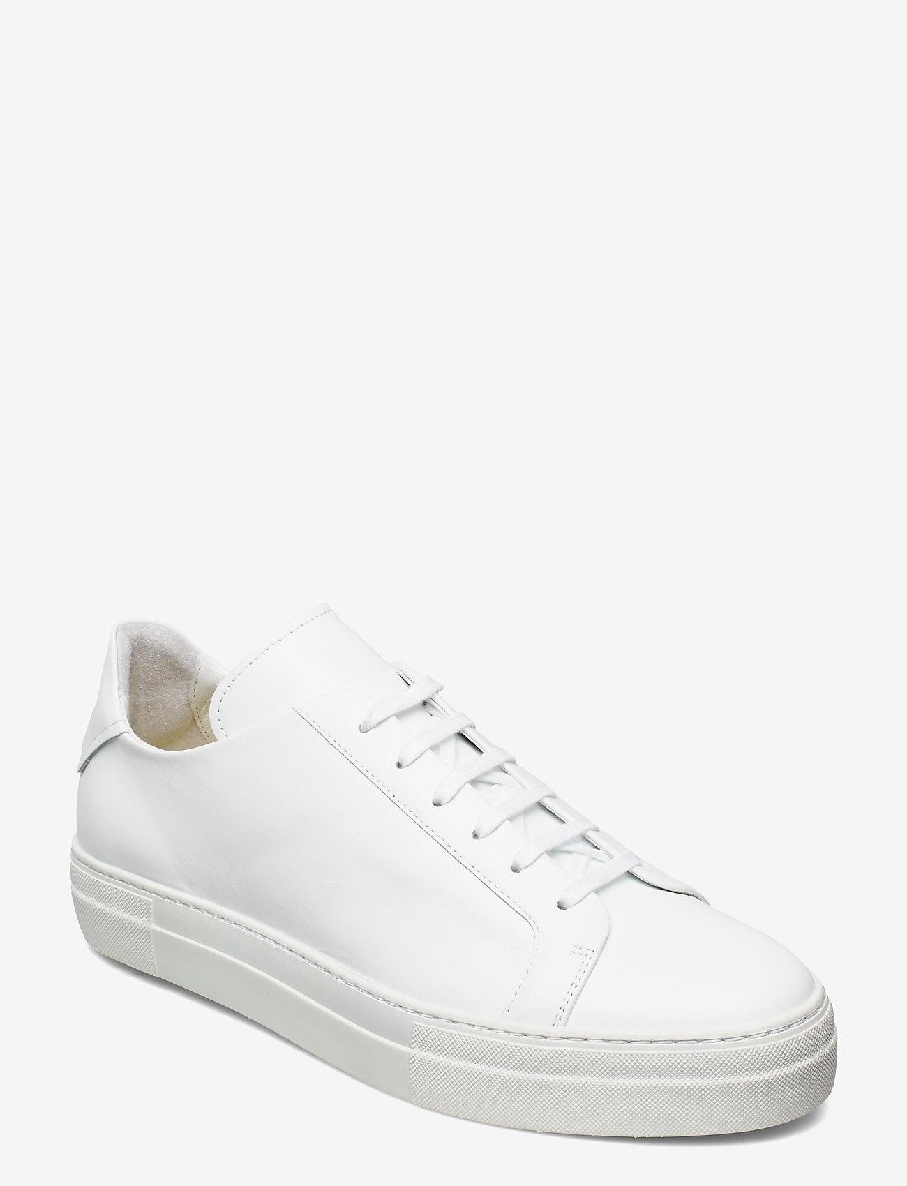 J. Lindeberg - Signature Leather Sneaker - niedriger schnitt - white - 0
