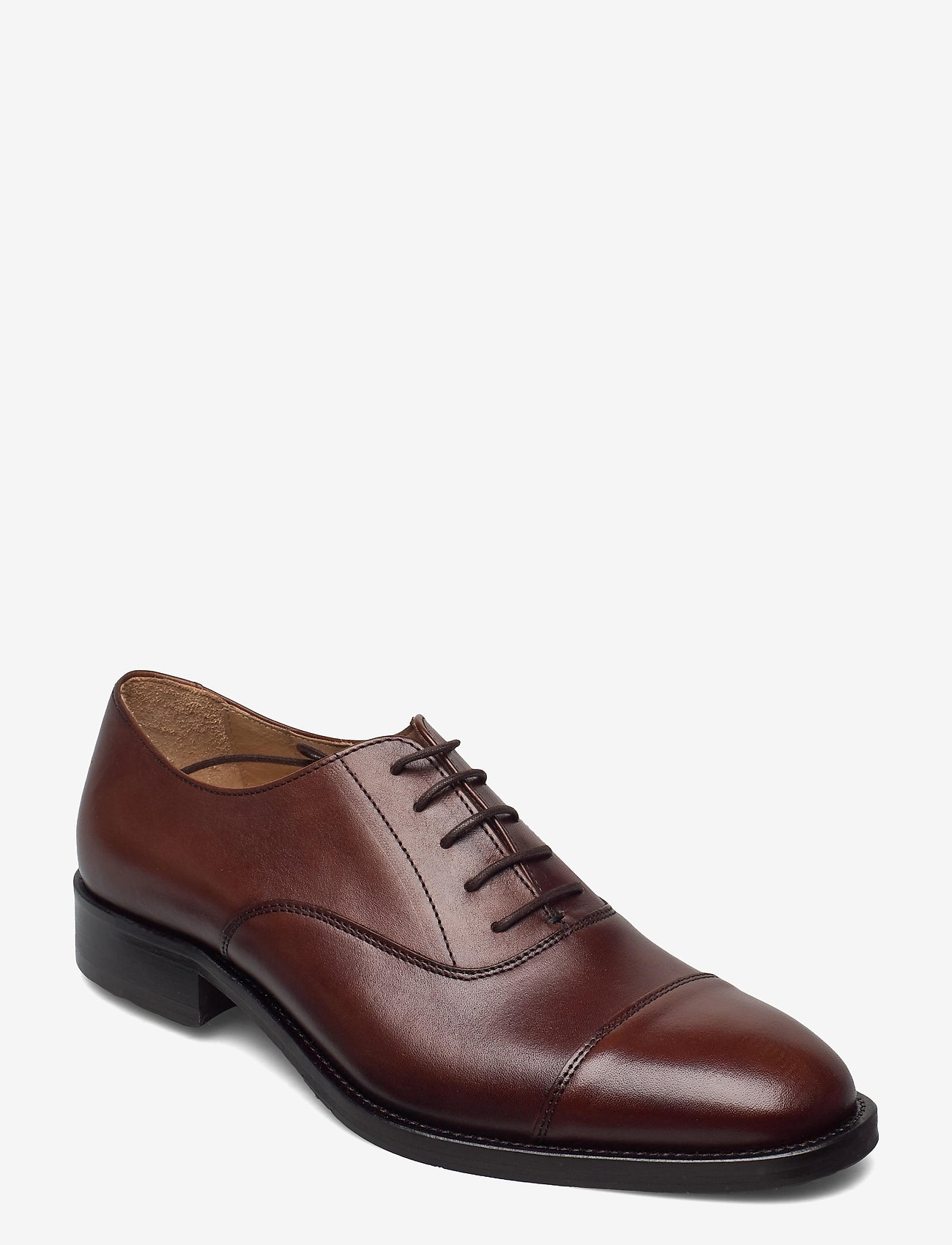 J. Lindeberg - Hopper Leather Oxford Shoe - schnürschuhe - brown - 0