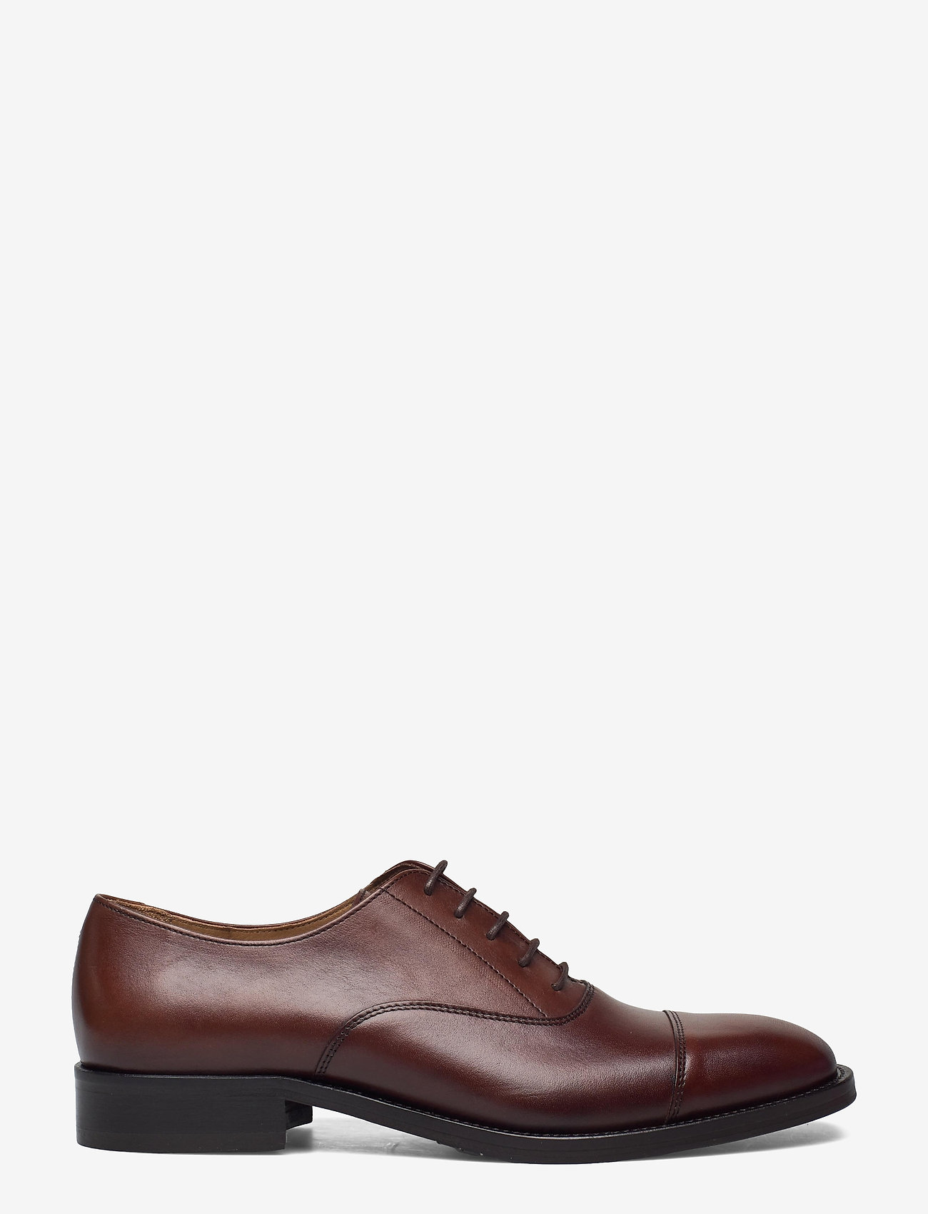 J. Lindeberg - Hopper Leather Oxford Shoe - schnürschuhe - brown - 1