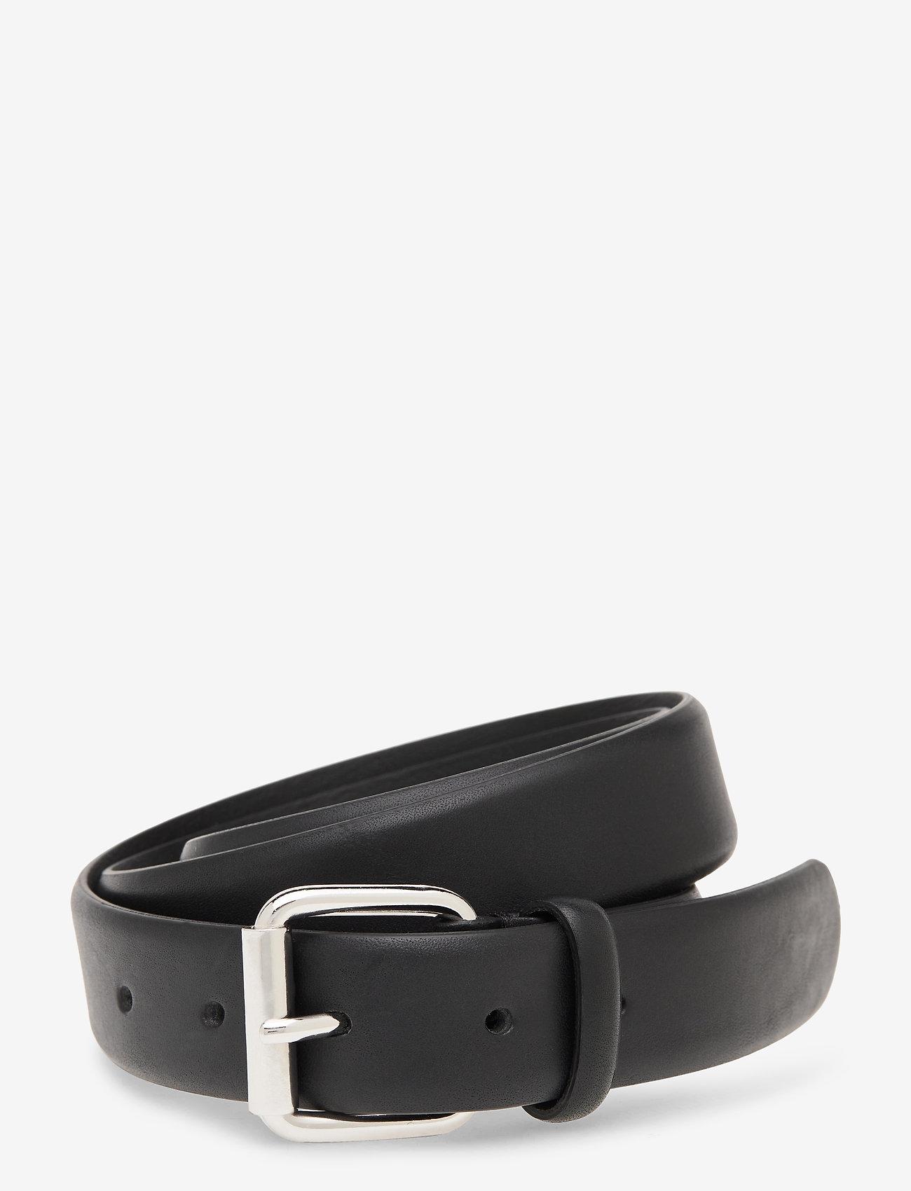 J. Lindeberg - Brock Leather Belt - belts - black - 0