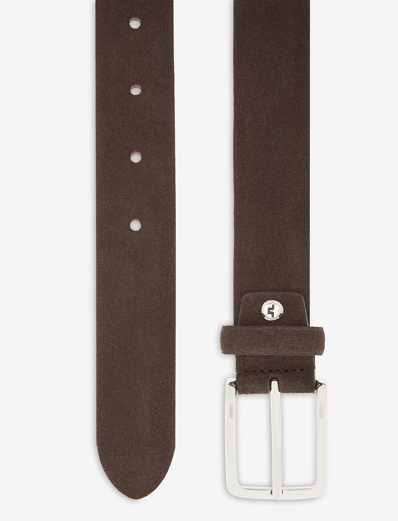 J. Lindeberg - Bobby Suede Belt - belts - brown - 1