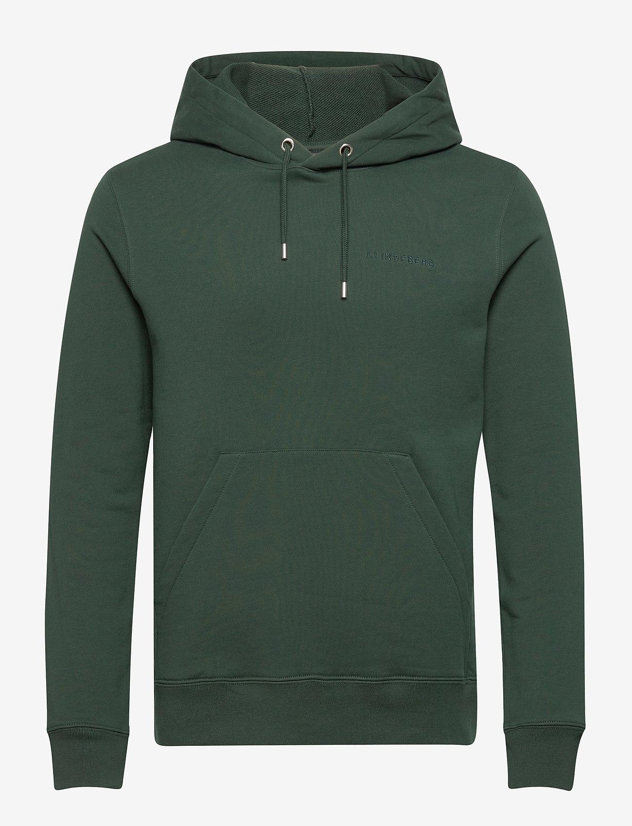 J. Lindeberg - Throw Clean Sweat Hoodie - basic-sweatshirts - hunter green - 1