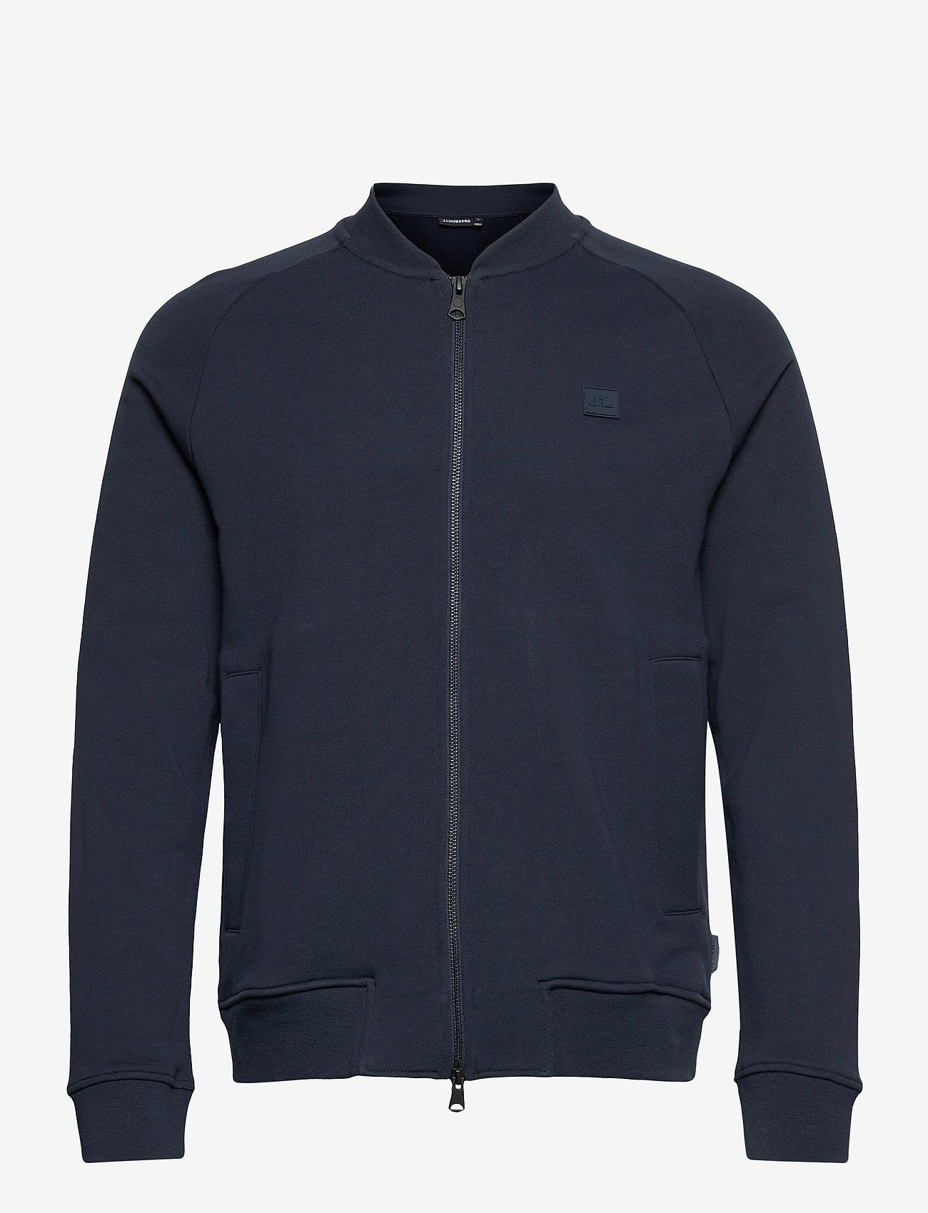 J. Lindeberg - Josef Zip Sweat Shirt - basic-sweatshirts - jl navy - 1